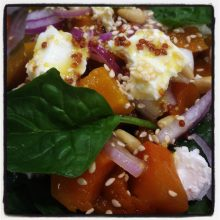Roasted Maple Pumpkin Salad